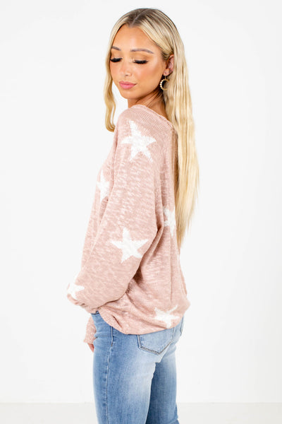 Pink Lightweight Boutique Tops for Women