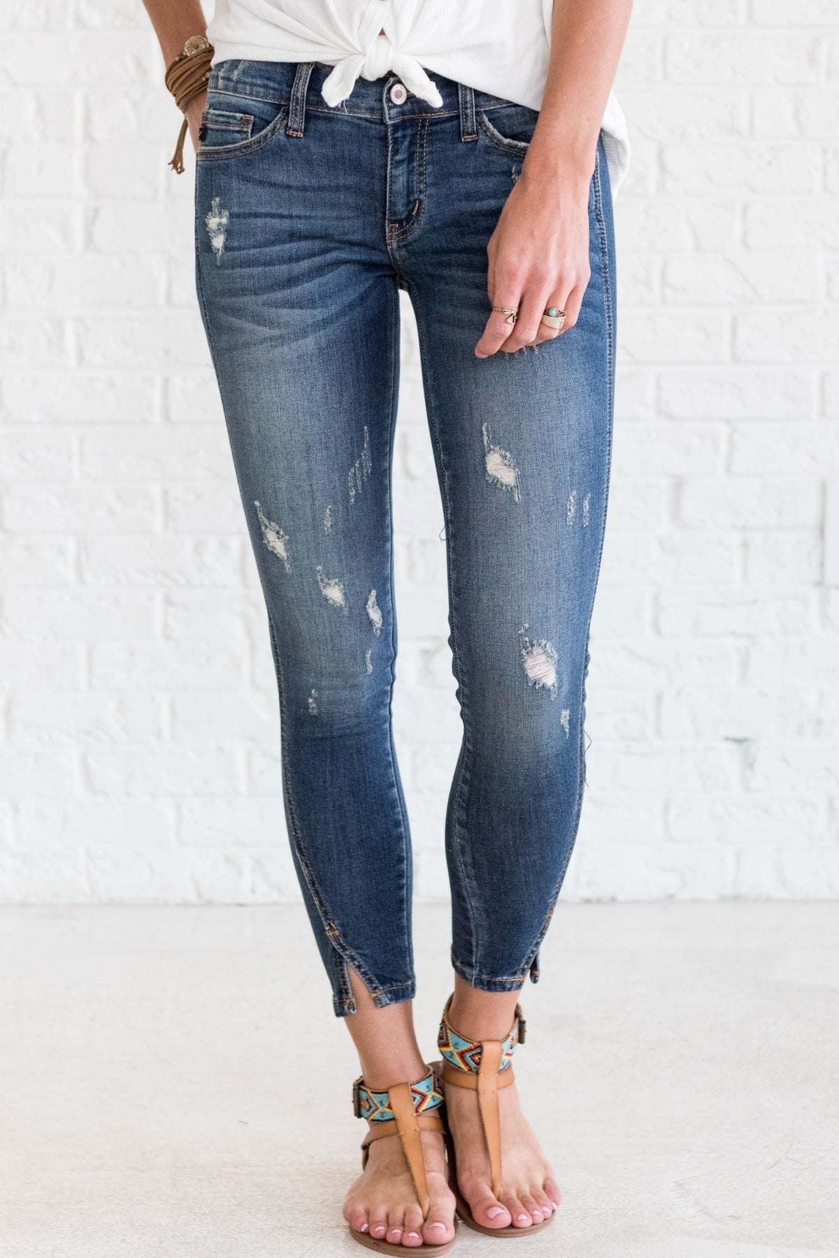 Ankle Slit Boutique Jeans