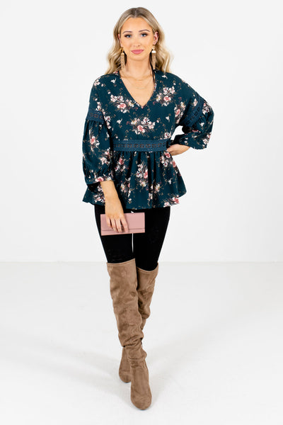Women's Teal Blue Fall and Winter Boutique Clothing