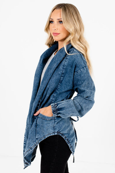 Blue Cute and Comfortable Boutique Jackets for Women