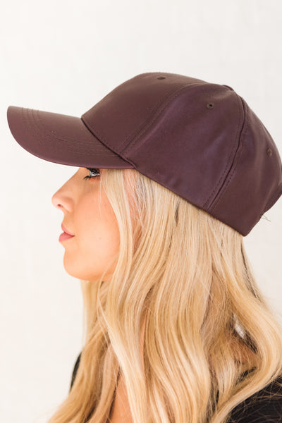 Dark Purple Baseball Style Caps for Women