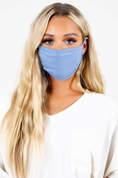 Blue Lightweight Material Boutique Face Masks for Women