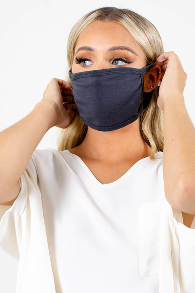 Gray High-Quality Boutique Face Masks for Women