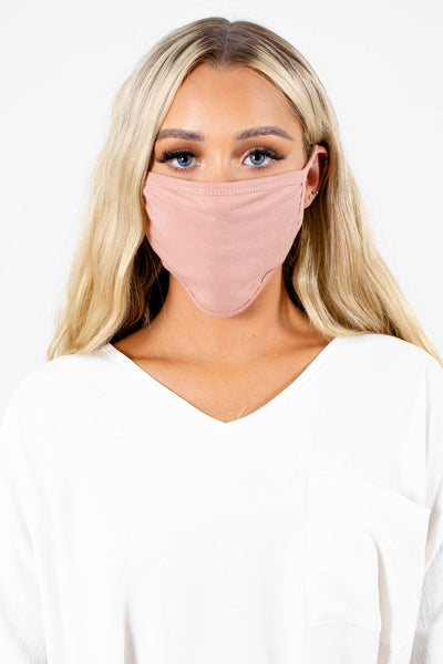 Pink Comfortable Boutique Face Masks for Women