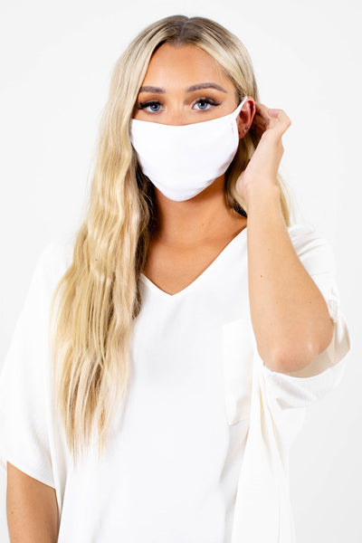 White Cute and Comfortable Boutique Face Masks for Women