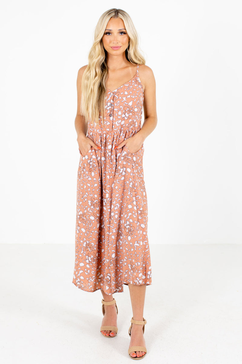 Stealing Your Heart Patterned Midi Dress