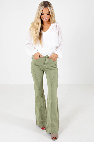 Women's Sage Green Spring and Summertime Boutique Clothing