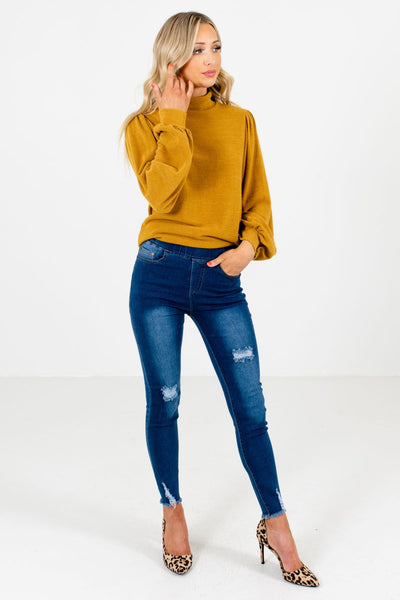 Women's Dark Wash Blue Fall and Winter Boutique Jeggings