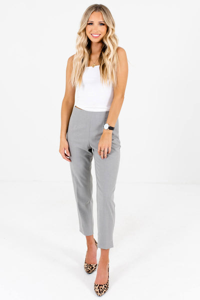 Heather Gray Cute and Comfortable Boutique Pants for Women