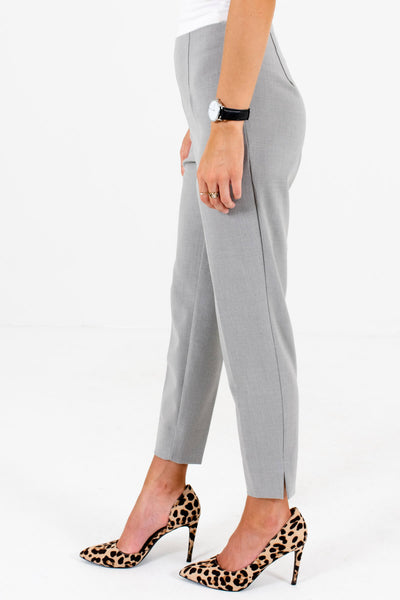 Heather Gray High-Quality Boutique Slack Style Pants for Women