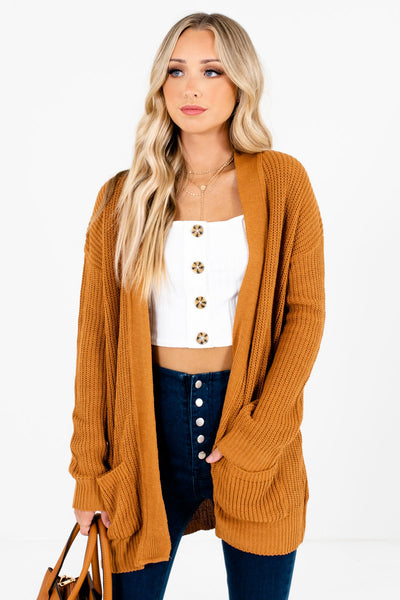 Tawny Orange Cute and Comfortable Boutique Cardigans for Women