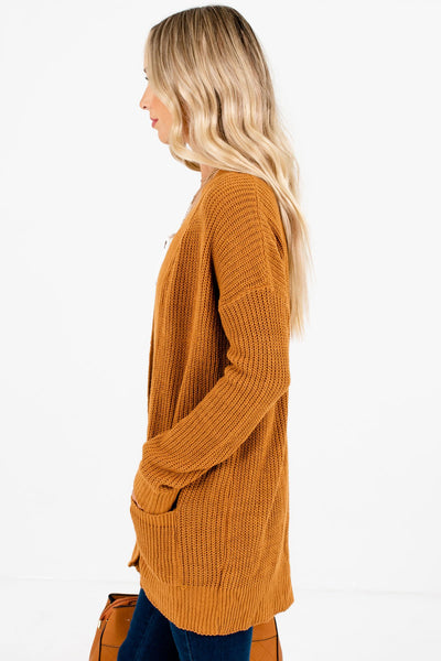 Tawny Orange Layering Boutique Cardigans for Women
