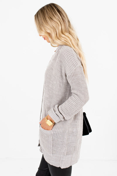Heather Gray Layering Boutique Cardigans for Women