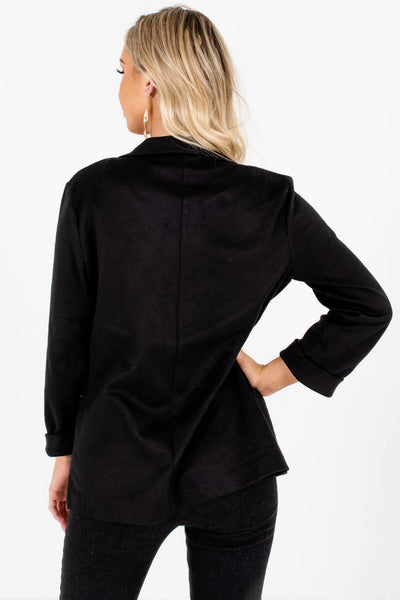 Black Soft Casual Blazers Affordable Online Boutique
