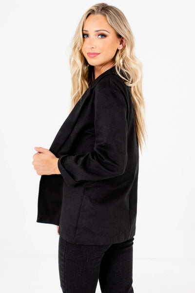 Soft Comfy Casual Relaxed Black Blazers for Women