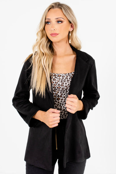 Black Soft Relaxed Blazers Affordable Online Boutique Businesswear