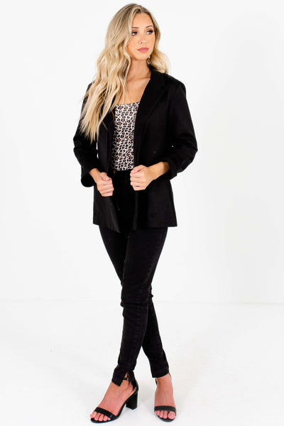 Solid Black Blazers Affordable Online Boutique