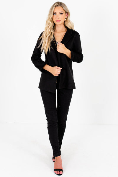Black Soft Comfortable Casual Blazers for Women