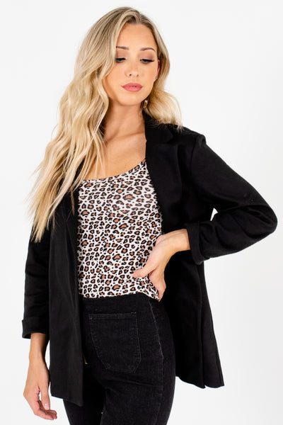 Black Soft Relaxed Business Casual Blazers