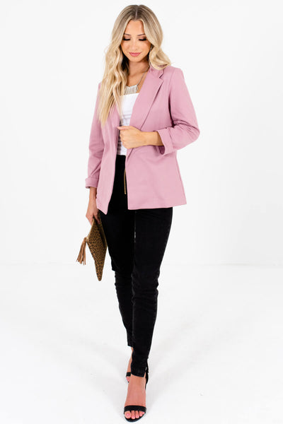 Dusty Rose Mauve Pink Blazers for Women