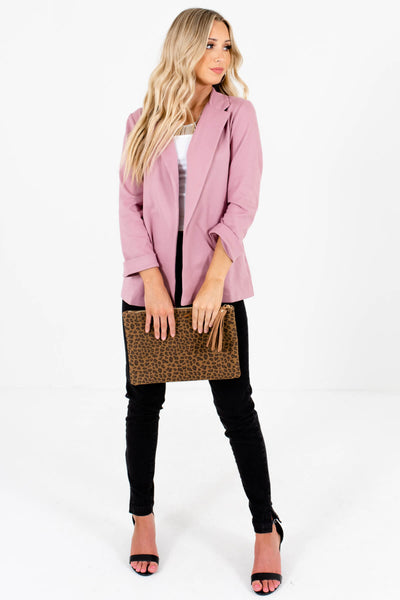 Dusty Rose Pink Soft Business Casual Boutique Blazers