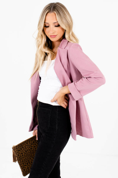 Cute Pink Blazers Affordable Online Business Casual Boutique