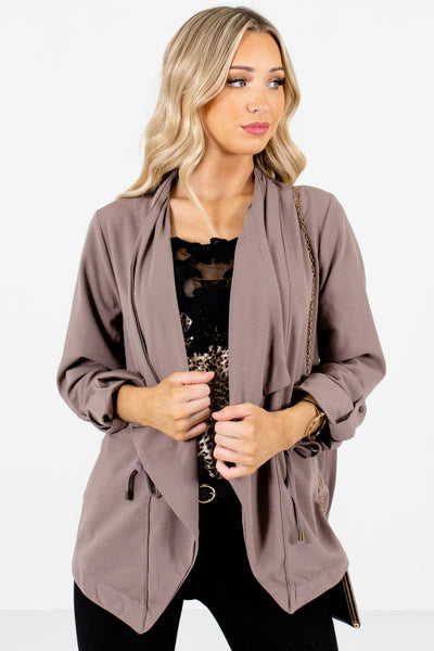 Brown High-Quality Material Boutique Jackets for Women
