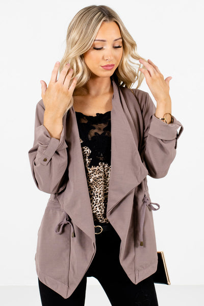 Brown Cute and Comfortable Boutique Jackets for Women