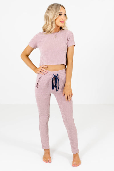 Women's Pink Boutique Casual Outfit Boutique Two-Piece Sets