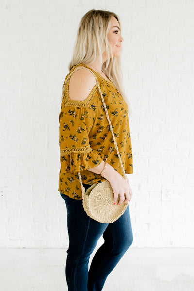 Mustard Yellow Affordable Online Plus Size Boutique Clothing for Women