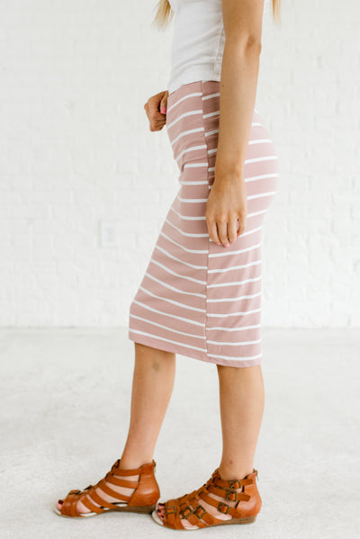 Light Mauve Pink and White Affordable Online Boutique Clothing for Women