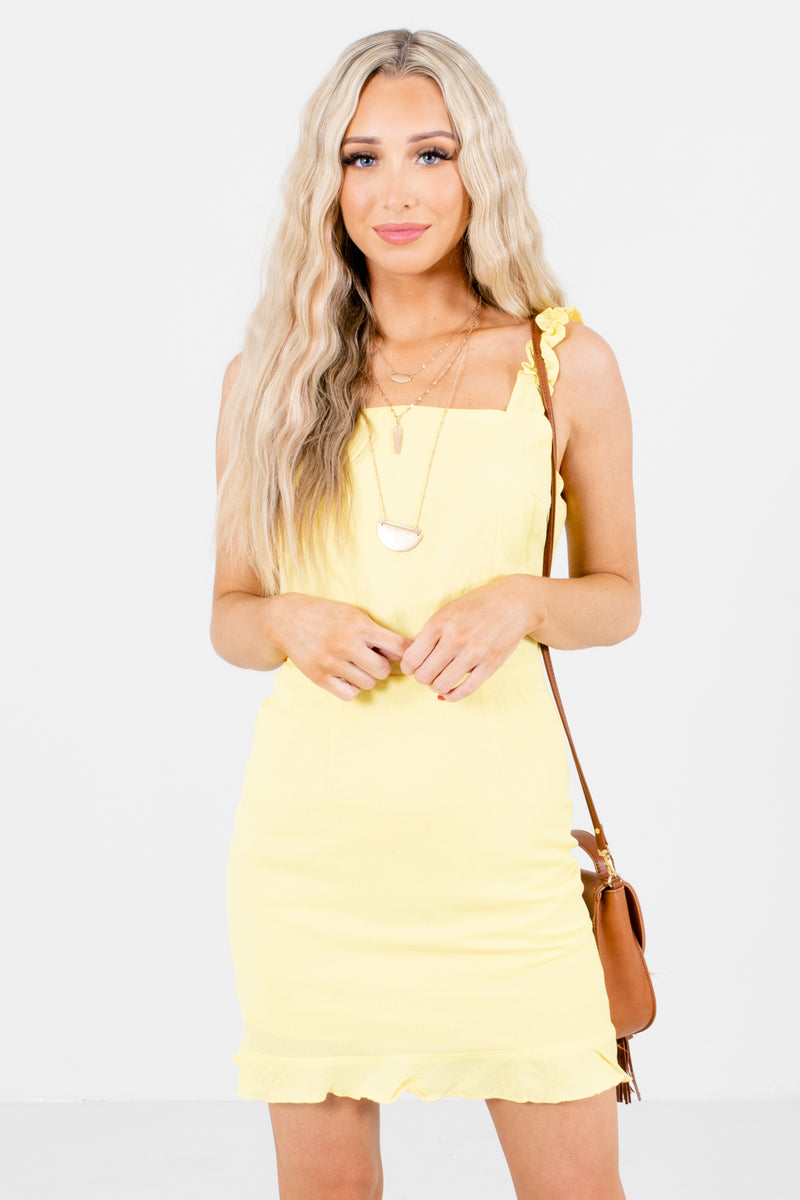 Sunny Daze Yellow Mini Dress