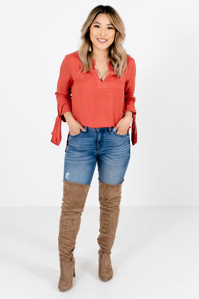 Sweet Dreams Dark Coral Blouse