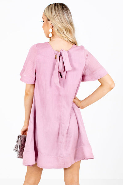 Women's Pink Fully Lined Boutique Mini Dress
