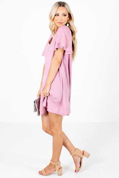 Women's Pink Date Night Boutique Mini Dress