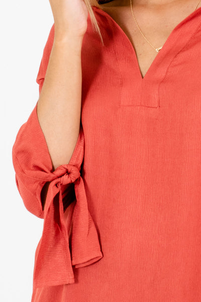 Dark Coral Affordable Online Boutique Clothing for Women