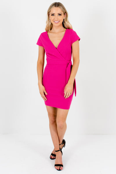 Women's Fuchsia Pink Cute and Comfortable Boutique Mini Dress