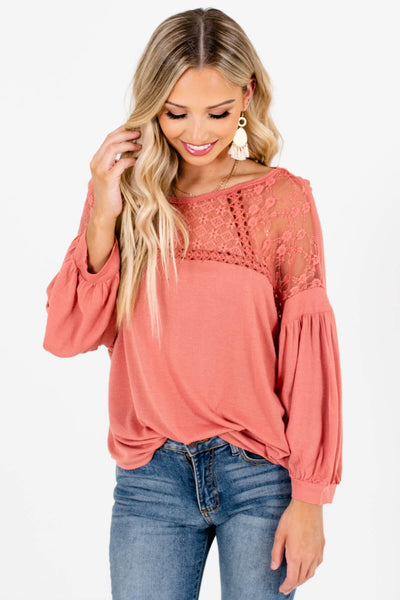 Pink High-Low Hem Boutique Tops for Women