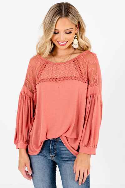 Pink Cute Everyday Outfit Boutique Tops for Women