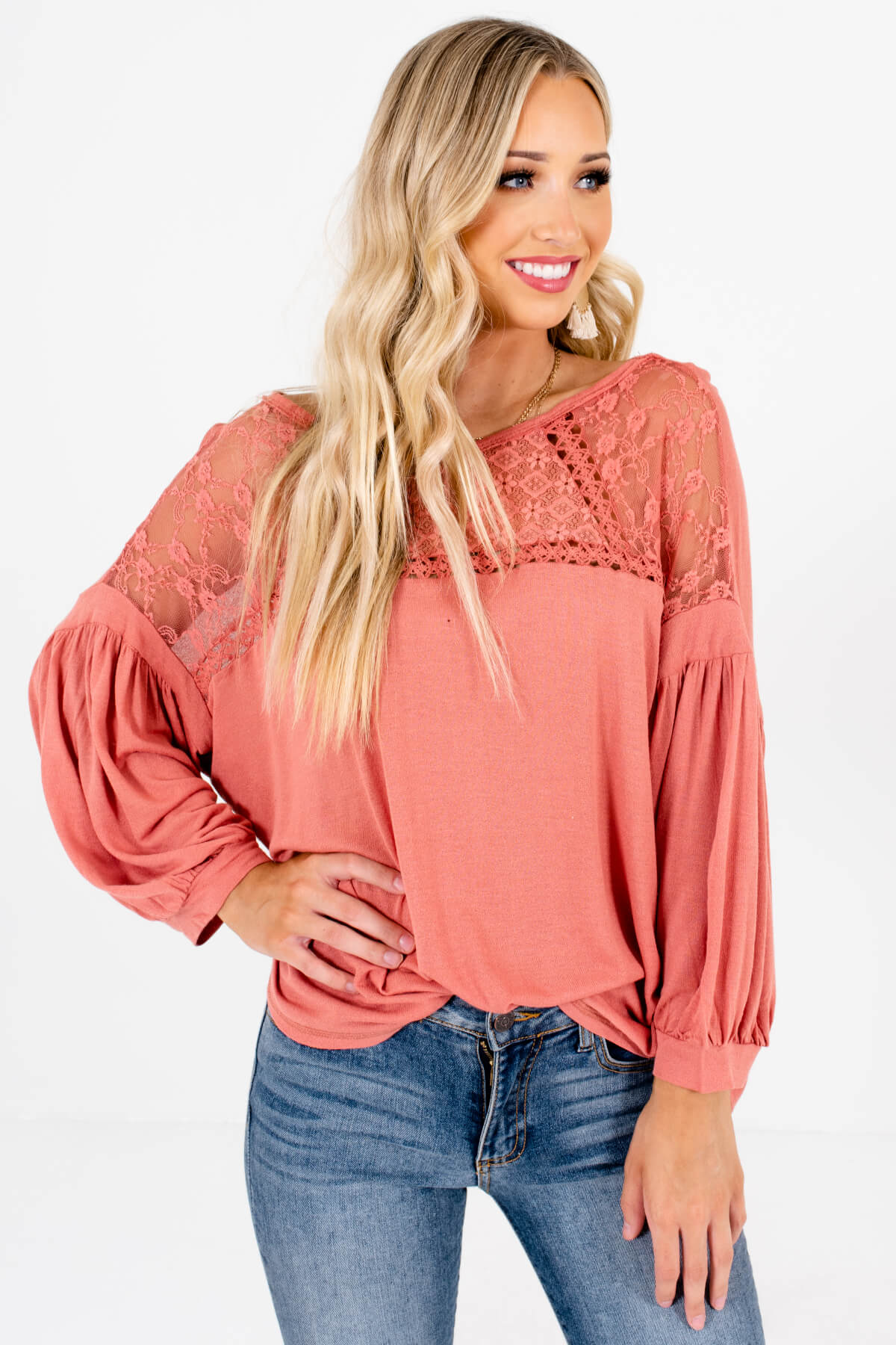 Pink Peasant Style Boutique Tops for Women