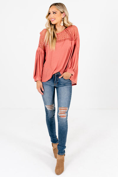 Women's Pink Boho Style Boutique Tops