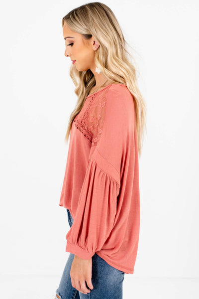 Women's Pink Oversized Fit Boutique Tops