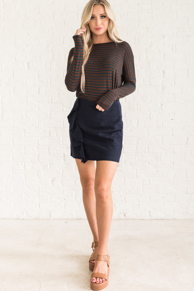 Navy Blue Cute Women's Fall Clothing