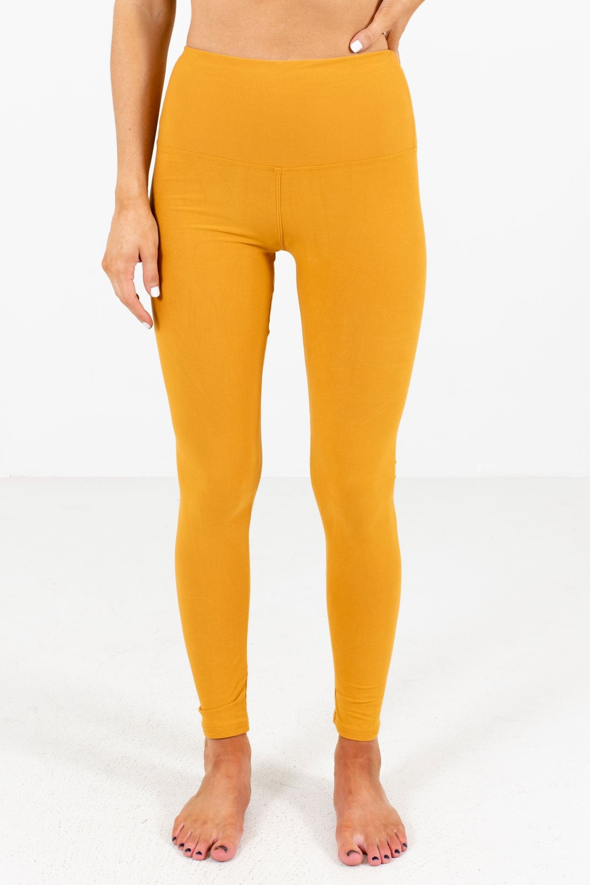 Mustard Yellow Cute Best Leggings for Winter Affordable Online Womens Boutique Women