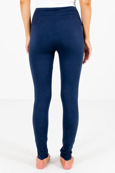Navy Blue Cute Comfy Soft Stretchy Boutique Best Leggings for Women