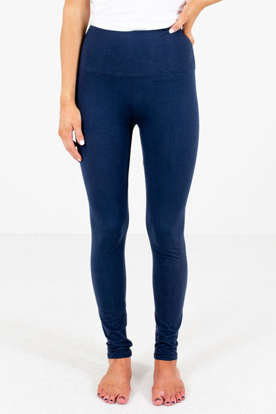 Navy Blue Cute Best Leggings for Winter Affordable Online Womens Boutique Women