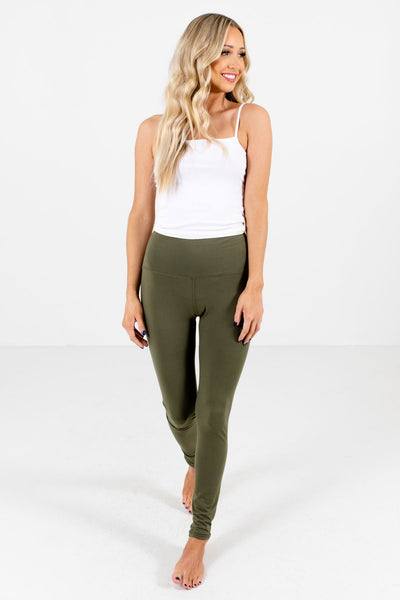 Women's Olive Green Casual Everyday Boutique Leggings