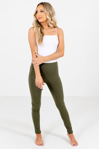 Women's Olive Green Stretchy High-Quality Boutique Leggings