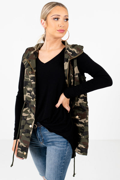 Green Camouflage Cute and Comfortable Boutique Vests for Women