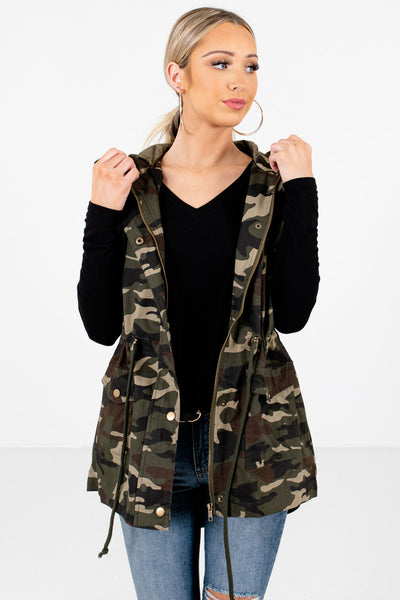 Women's Green Boutique Layering Vest